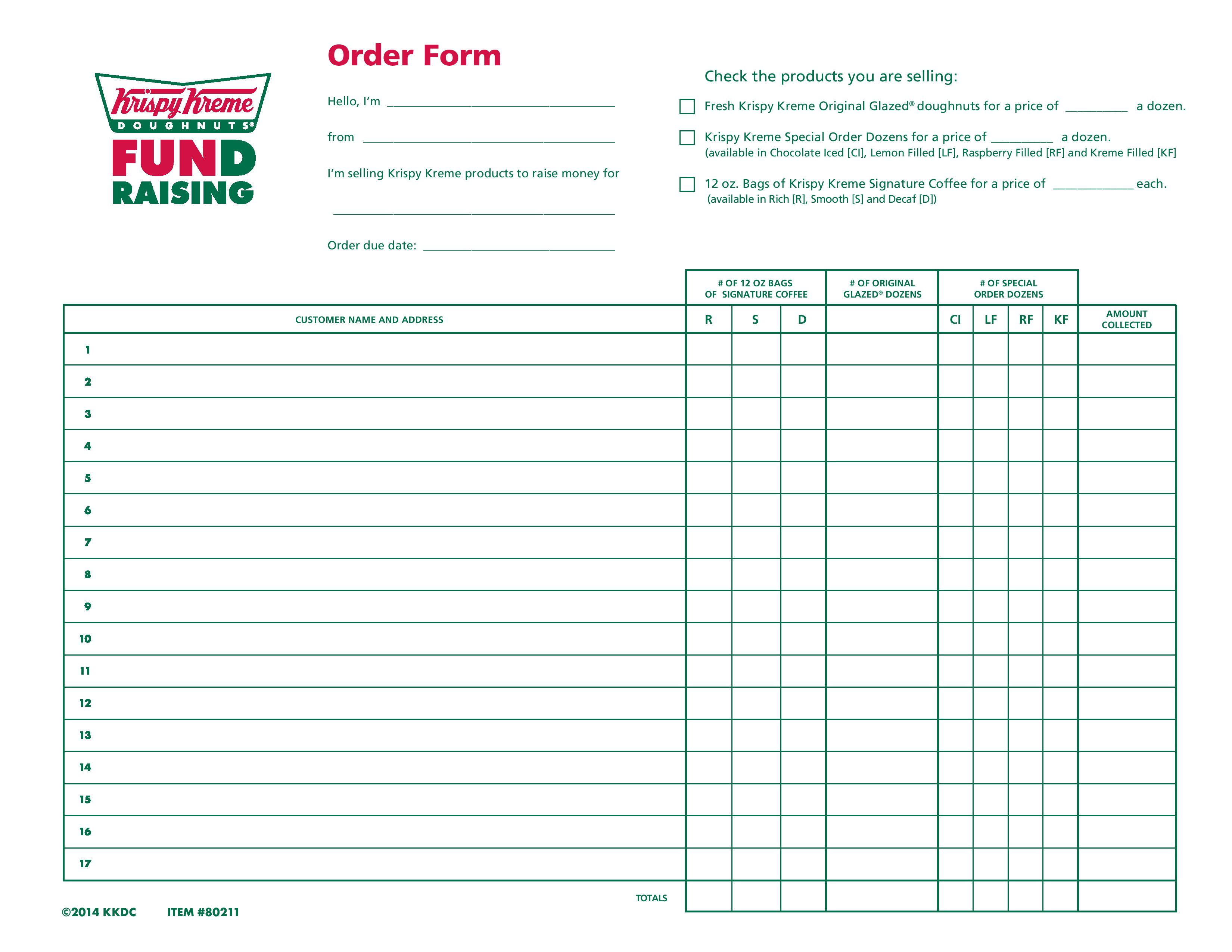 Click Here To Print Order Form